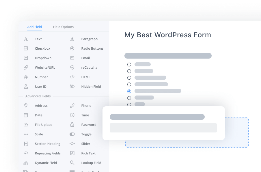 WordPress survey builder