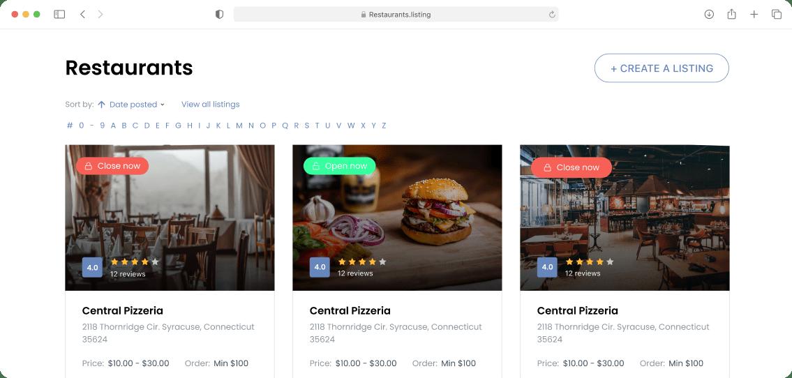 WordPress Yelp clone
