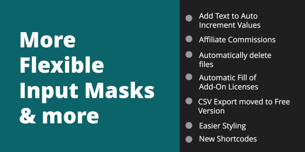 WordPress form builder flexible input mask