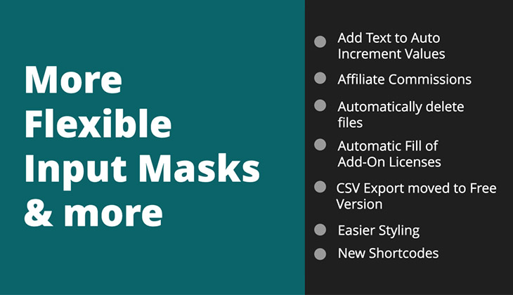 More Flexible Input Masks & more