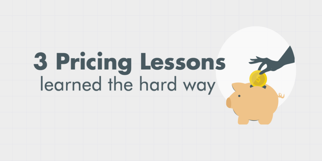 3 pricing lessons