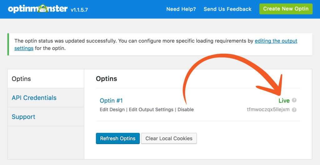 OptinMonster and Formidable Forms integration WordPress plugin settings screenshot