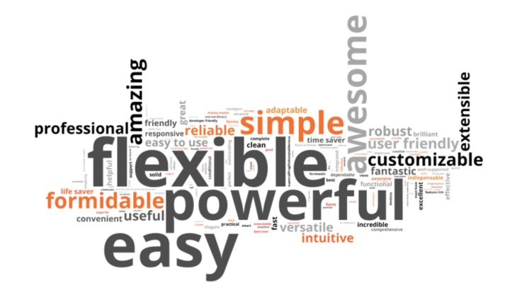 Formidable Forms Word Cloud