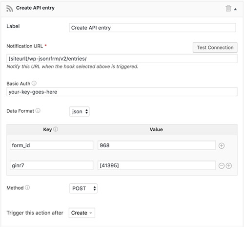 wordpress form api
