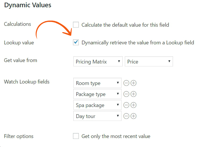 Dynamically retrieve the value from a Lookup field