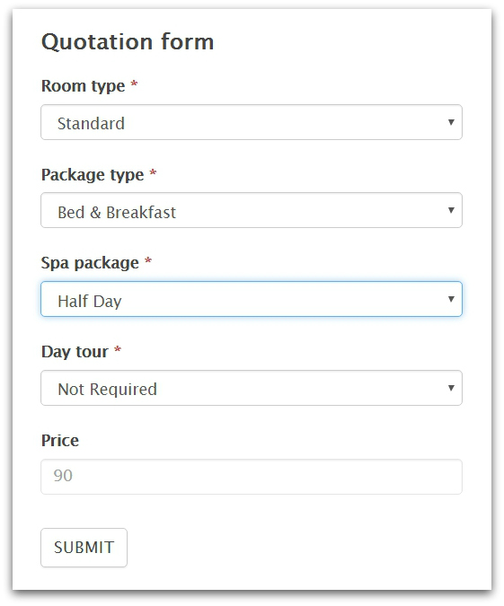 build a wordpress quote request form formidable forms