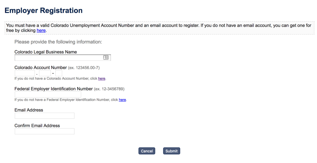 WordPress registration form screenshot showing no helpful microcopy