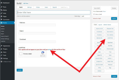 How to Add a Captcha to WordPress Contact Forms - Formidable