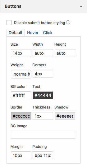 Alternative to Contact Form 7: Formidable Forms button styler