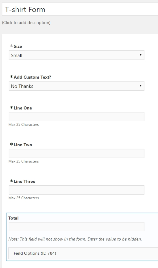 How To Create A Custom TShirt Order Form In Wordpress