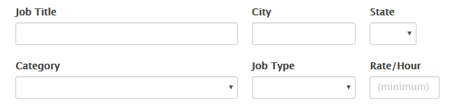 Job listings form search box