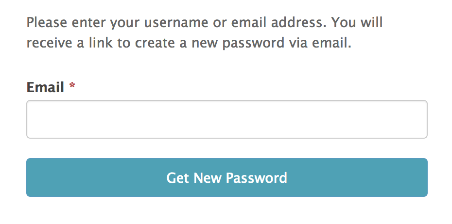 wordpress forgot password form