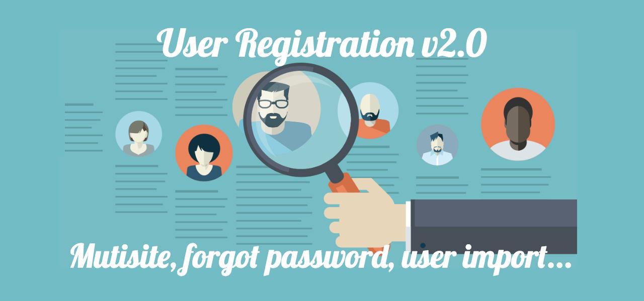 user registration forgot password form