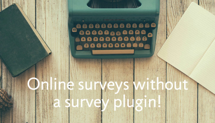 Build an online survey form with a WordPress survey plugin