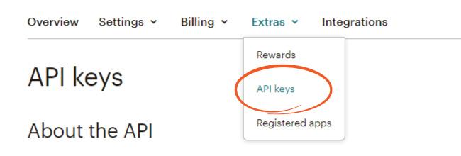 Create a MailChimp API key