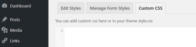 custom WordPress contact form styling