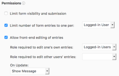 front-end editing in WordPress user registration plugin with custom fields
