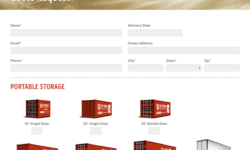 Site Box Storage WordPress contact form design