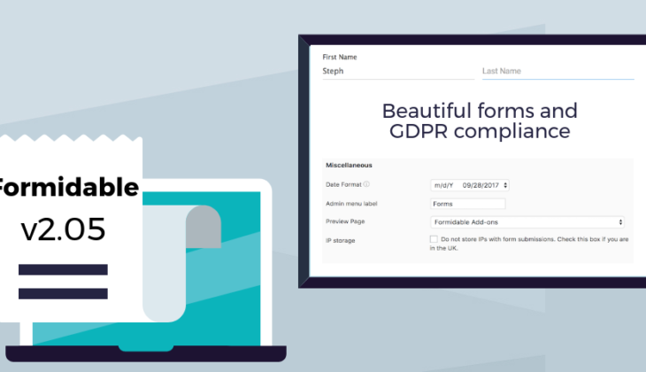 v2.05: Floating labels, GDPR compliance, and better view compatibility