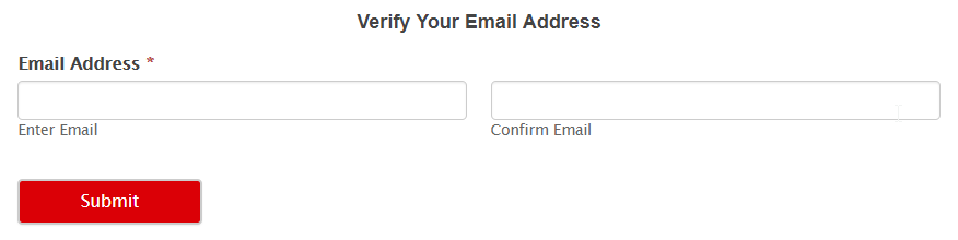 email verification form in WordPress