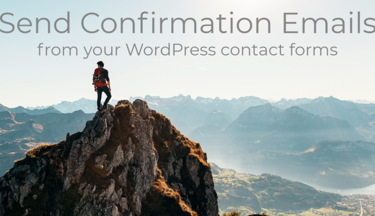 How to send confirmation emails with your WordPress contact forms