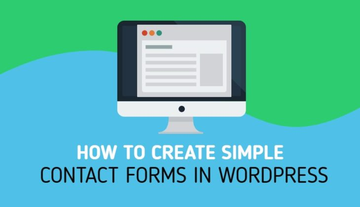 How to create simple contact forms in WordPress
