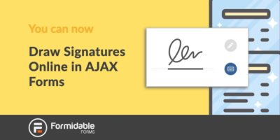 Now Draw Signatures Online in Ajax Forms