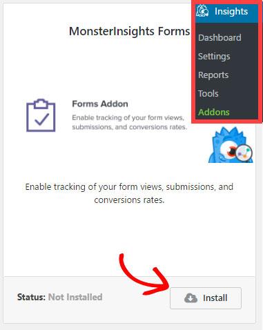 Monster insights install