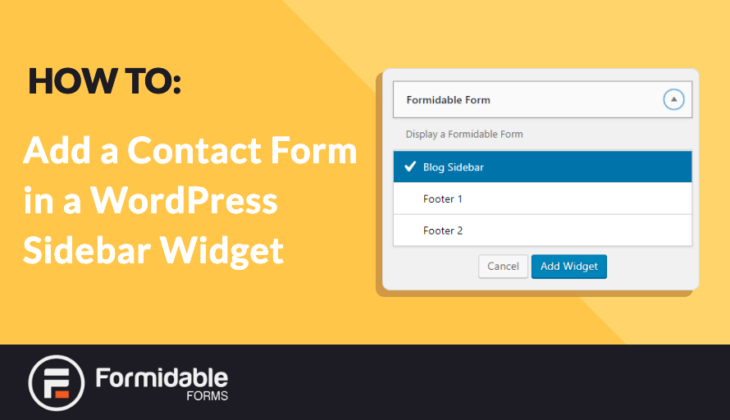 How to Add a Contact Form in a WordPress Sidebar Widget