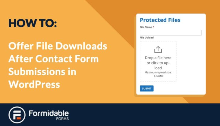 How to Offer File Downloads After Contact Form Submissions In WordPress
