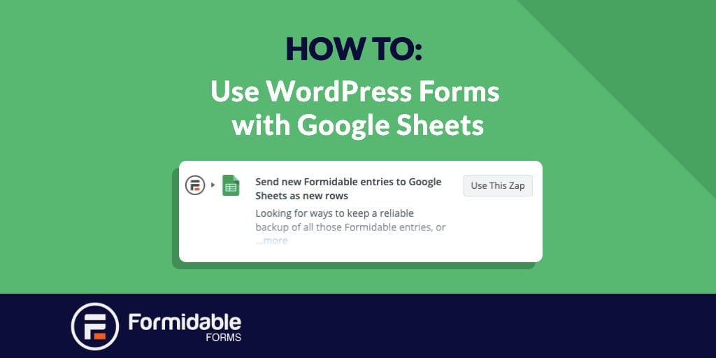 How to Use WordPress Forms with Google Sheets