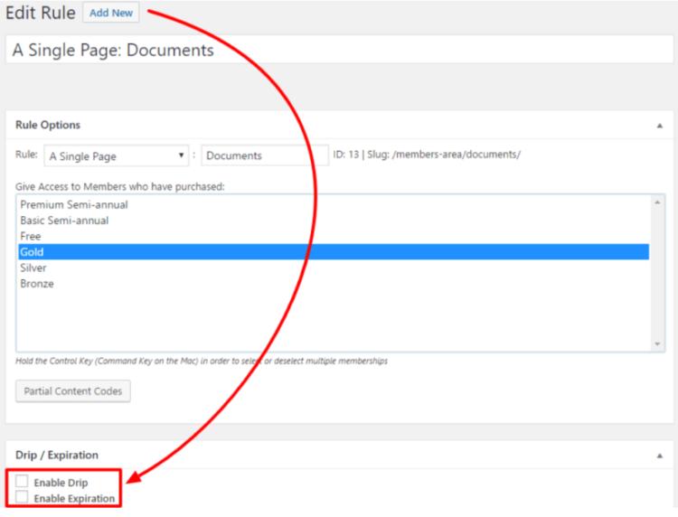 drip content membership plugin