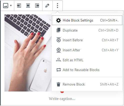 add image with gutenberg