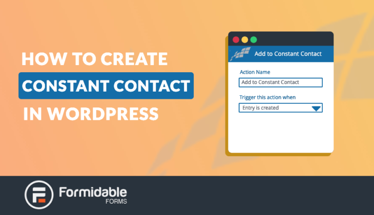 How to Create Constant Contact Forms in WordPress