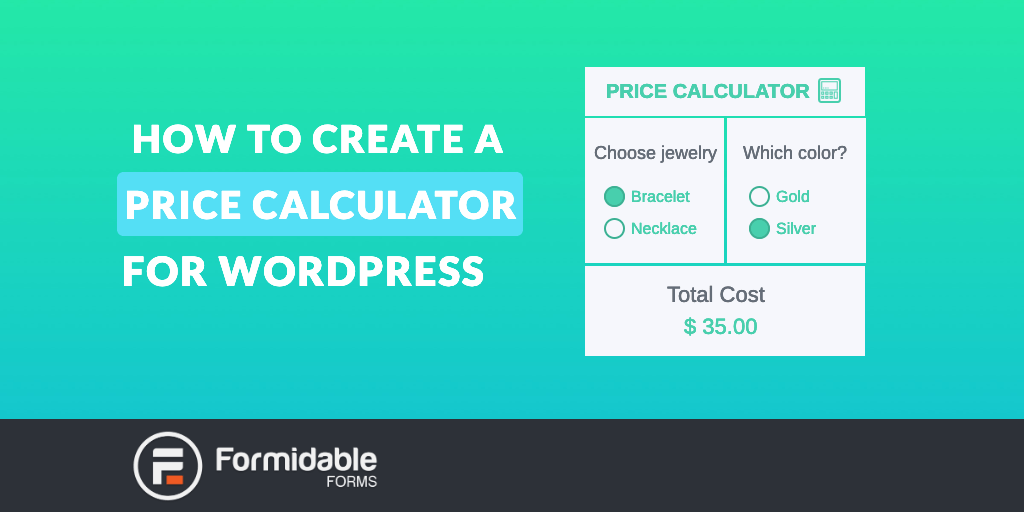 How to Create a Price Calculator for WordPress