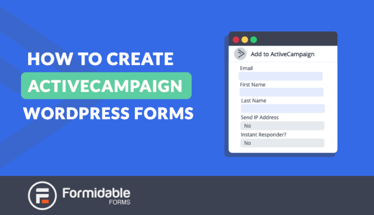 activecampaign in wordpress forms