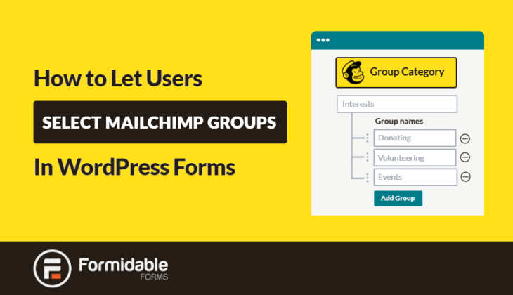 How to Allow Users to Select MailChimp Groups in WordPress Forms