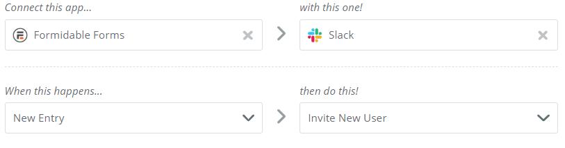 slack automatic invite for wordpress forms