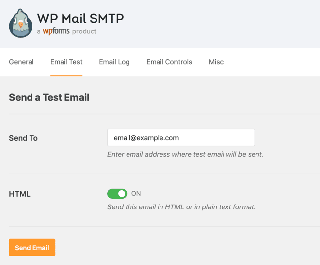 WP test problem email