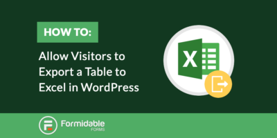 How to allow visitors to export a table to excel in WordPress