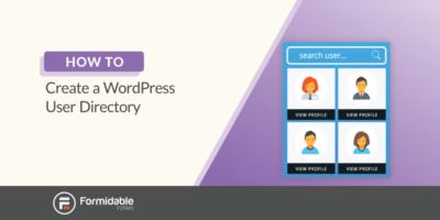 How to create a WordPress user directory