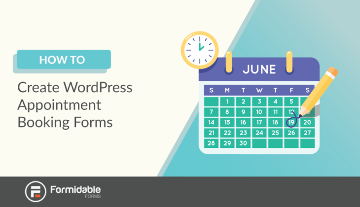 how to create appointment booking forms in WordPress