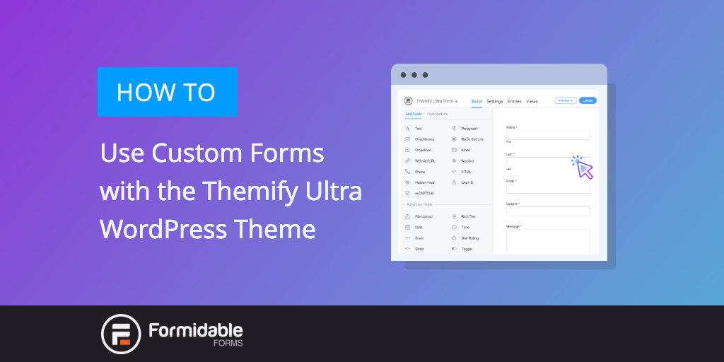 How to Use Custom Forms with the Themify Ultra WordPress Theme