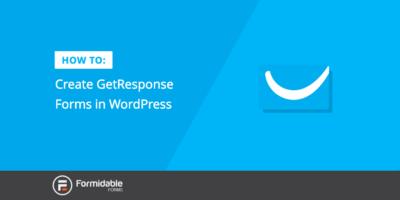 GetResponse Forms WordPress