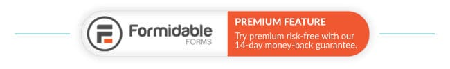 Formidable Forms Pro Feature