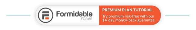 Formidable Forms pro plans