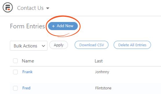 Add Form Entries