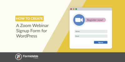 How to create a Zoom webinar signup form