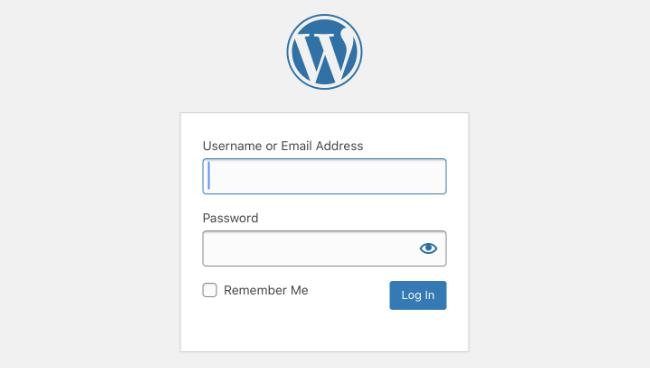 Default WordPress Login Form