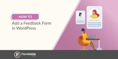 How to add a feedback form in WordPress